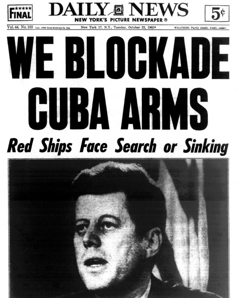 New york daily cover October 1962