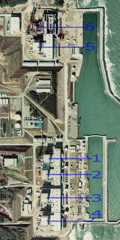 satellite image of what happened in fukushima reactors