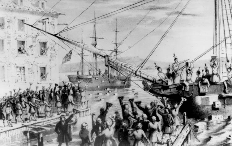 Boston Tea Party historical pic