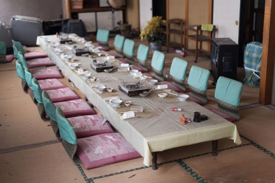 Restaurant table at Fukushima