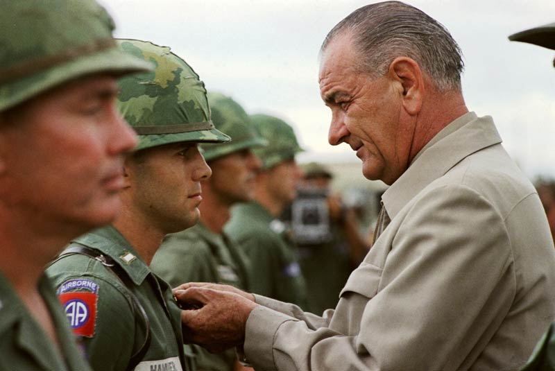 President johnson visited Vietnam to see what happened there