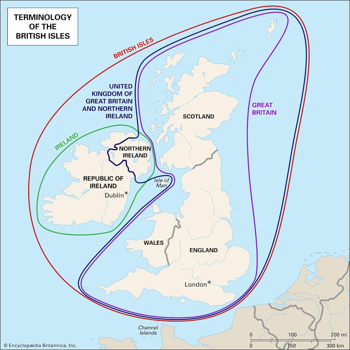 difference british isles united kingdom Ireland